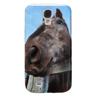 Caja de la mota del caballo de Brown Funda Para Galaxy S4
