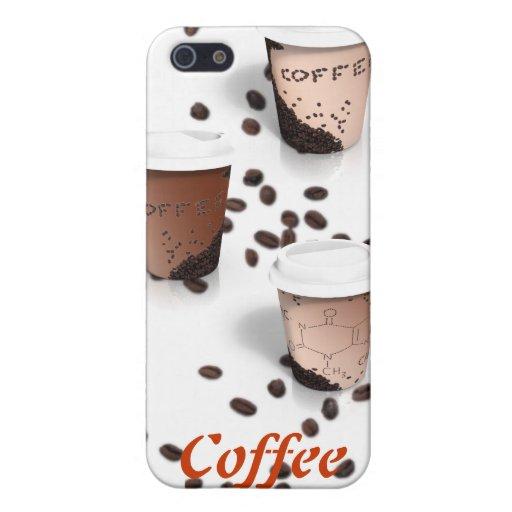 Caja de la mota del café iPhone 5 carcasa
