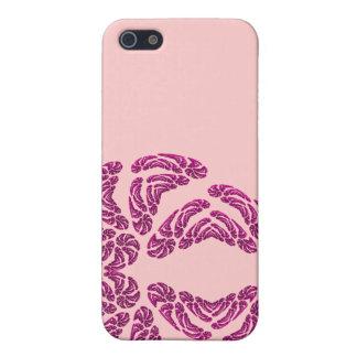 caja de la mota del corazón del fractal del iPhone iPhone 5 Protectores