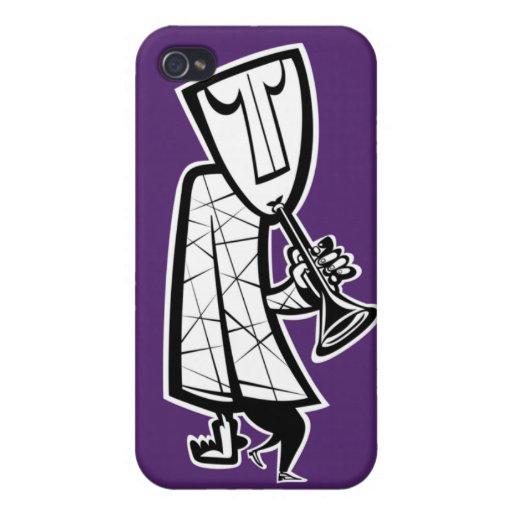 Caja de la mota del cuerno del JazzMan iPhone 4/4S Funda
