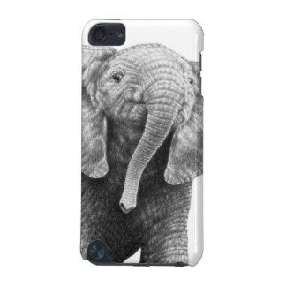 Caja de la mota del elefante africano del bebé funda para iPod touch 5G