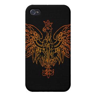 Caja de la mota del escudo de Viking iPhone 4 Carcasa