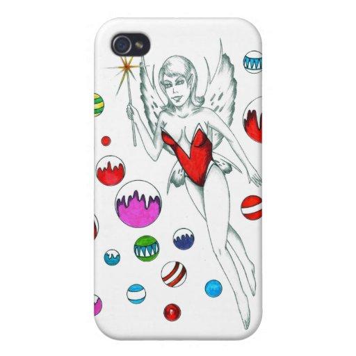 Caja de la mota del Faerie del invierno iPhone 4 Protector