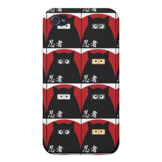 Caja de la mota del gatito de Ninja iPhone 4/4S Funda