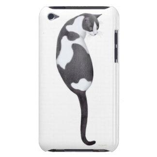 Caja de la mota del gato de la vaca del smoking iPod touch carcasas