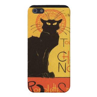 Caja de la mota del gato negro Iphone4 iPhone 5 Funda