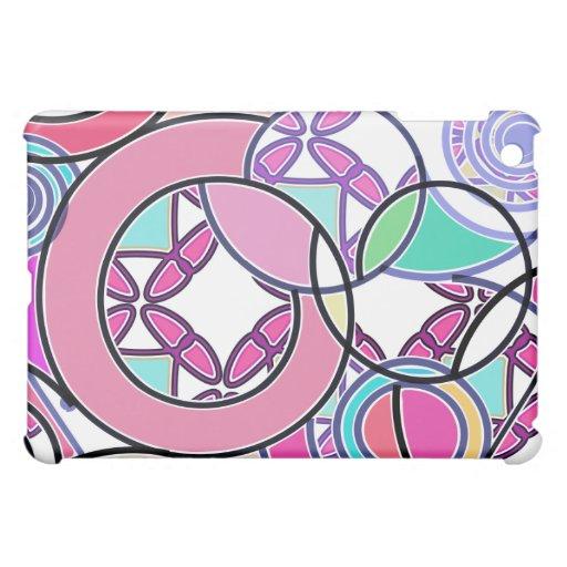 Caja de la mota del iPad de Swirly Bubblegum