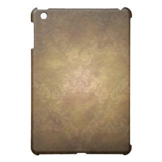 Caja de la mota del iPad del oro del papel pintado