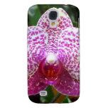Caja de la mota del iphone 3 de la orquídea