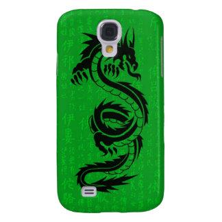 Caja de la mota del iPhone 3 del dragón verde