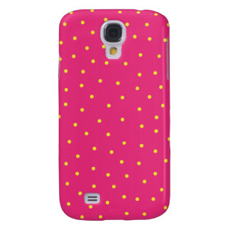 caja de la mota del iPhone 3 - puntos rosados y am