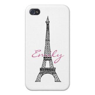 Caja de la mota del iPhone 4/4S de la torre Eiffel iPhone 4 Fundas