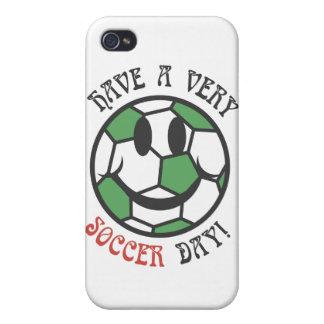 Caja de la mota del iPhone 4/4S del día del fútbol iPhone 4 Cárcasas