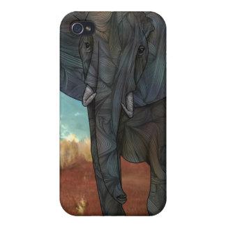 Caja de la mota del iPhone 4/4s del elefante iPhone 4 Funda