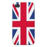 Caja de la mota del iPhone 4 de la bandera de Rein iPhone 4 Fundas