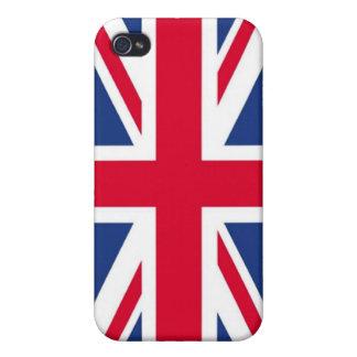 Caja de la mota del iPhone 4 de la bandera de Rein iPhone 4/4S Fundas