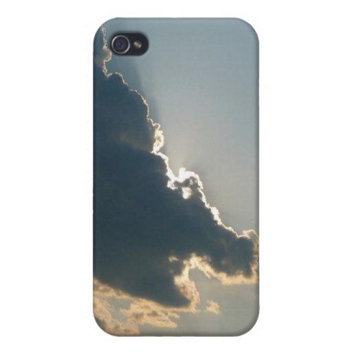 Caja de la mota del iPhone 4 de la nube del hipopó iPhone 4/4S Fundas