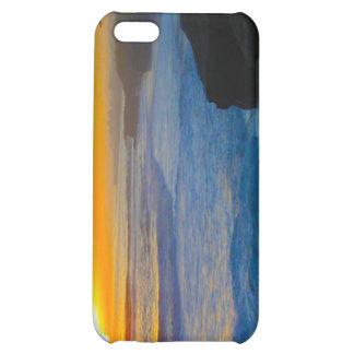 Caja de la mota del iPhone 4 de la puesta del sol