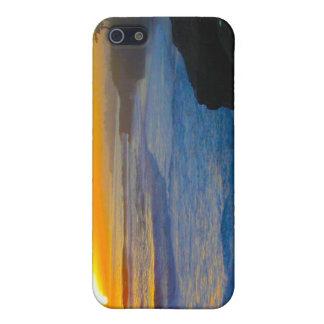 Caja de la mota del iPhone 4 de la puesta del sol iPhone 5 Funda