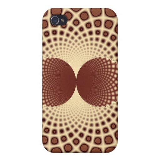 Caja de la mota del iPhone 4 de la tela de Brown iPhone 4 Carcasa