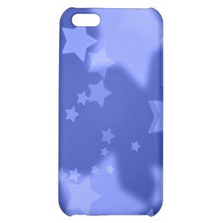Caja de la mota del iPhone 4 de las estrellas azul