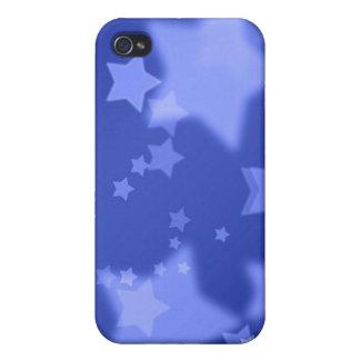 Caja de la mota del iPhone 4 de las estrellas azul iPhone 4/4S Carcasas