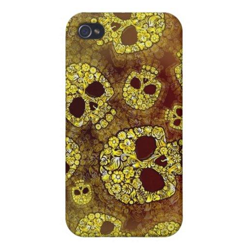 Caja de la mota del iPhone 4 de los cráneos de la  iPhone 4 Cárcasa