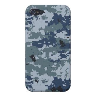 Caja de la mota del iPhone 4 del camuflaje de los iPhone 4 Protector