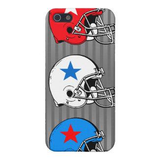 Caja de la mota del iPhone 4 del casco de fútbol a iPhone 5 Carcasas