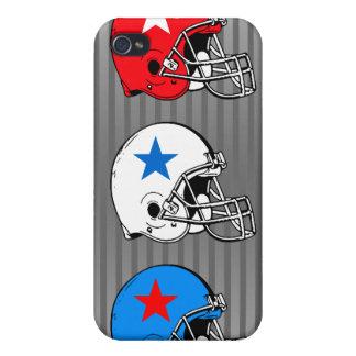 Caja de la mota del iPhone 4 del casco de fútbol a iPhone 4 Carcasa
