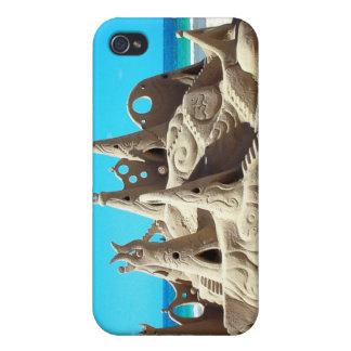 Caja de la mota del iPhone 4 del castillo de arena iPhone 4 Carcasa