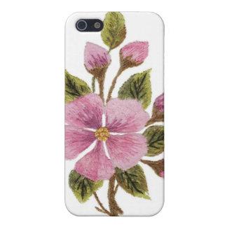 Caja de la mota del iPhone 4 del flor del manzano iPhone 5 Funda