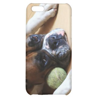 Caja de la mota del iphone 4 del perro del boxeado