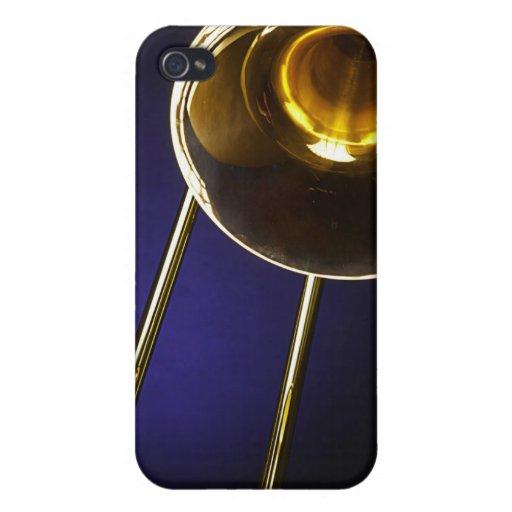 Caja de la mota del iphone de la imagen del Trombo iPhone 4 Fundas