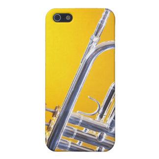 Caja de la mota del iphone de la trompeta o del cu iPhone 5 cobertura