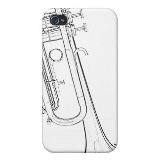 Caja de la mota del iphone de la trompeta o del cu iPhone 4 coberturas