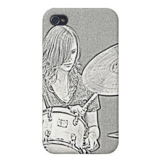 Caja de la mota del iphone del dibujo del batería iPhone 4 protector