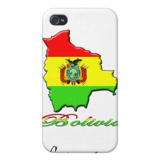 Caja de la mota del iPhone del mapa de Bolivia iPhone 4/4S Fundas