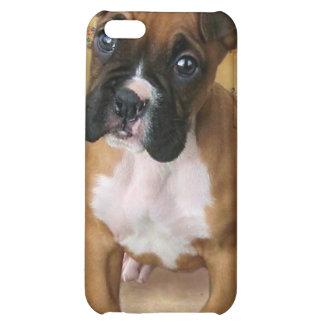Caja de la mota del iphone del perrito del boxeado