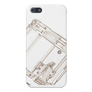 Caja de la mota del iphone del tambor que marcha iPhone 5 fundas