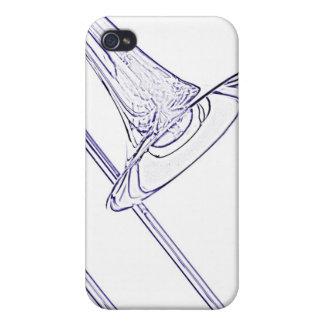 Caja de la mota del iphone del Trombone iPhone 4/4S Fundas