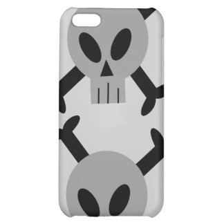 Caja de la mota del iPhone gris 4 del cráneo y de