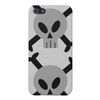Caja de la mota del iPhone gris 4 del cráneo y de iPhone 5 Coberturas