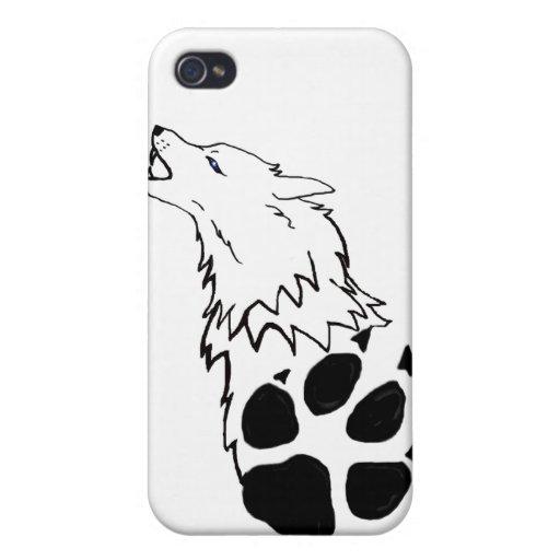 Caja de la mota del lobo del grito iPhone 4/4S carcasa