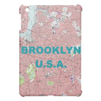 Caja de la mota del mapa del vintage de Brooklyn,