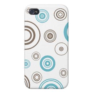 Caja de la mota del marrón azul que circunda iPhone 4 coberturas