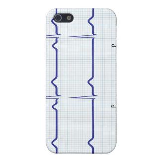 Caja de la mota del modelo de Ecg del corazón iPhone 5 Funda