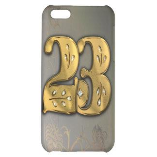 caja de la mota del número 23 del oro del Victoria
