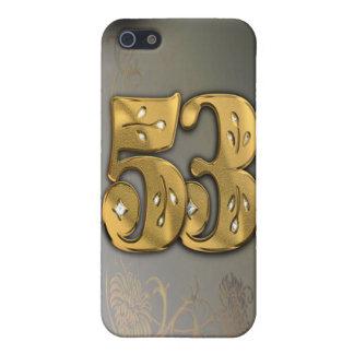 caja de la mota del número 53 del oro del iPhone 5 carcasa