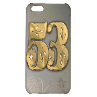 caja de la mota del número 53 del oro del Victoria